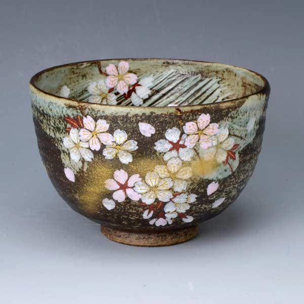 【 送料無料 】 京焼 清水焼 京 焼き 京焼き 茶道具 抹茶碗 1客 桐箱入り 花かがり