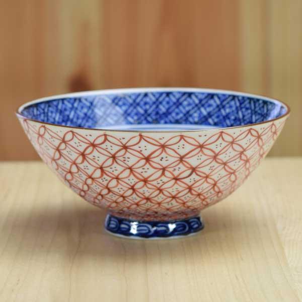 【 送料無料 】 京焼 清水焼 京 焼き 京焼き 小飯碗 1客 木箱入り 青赤七宝