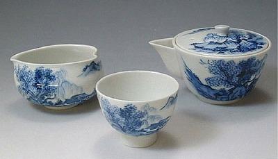 【 送料無料 】 京焼 清水焼 京 焼き 京焼き 茶器 染山水