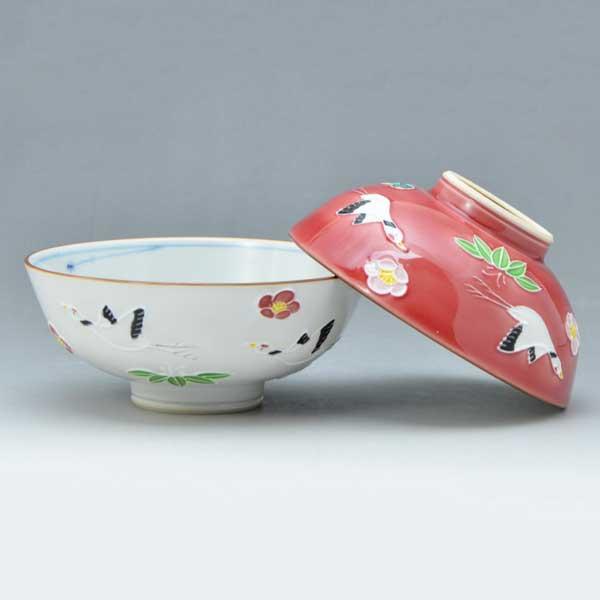 【 送料無料 】 京焼 清水焼 京 焼き 京焼き 夫婦茶碗 組飯碗 2客セット 紙箱入り ご飯茶碗 飛翔 ひしょう