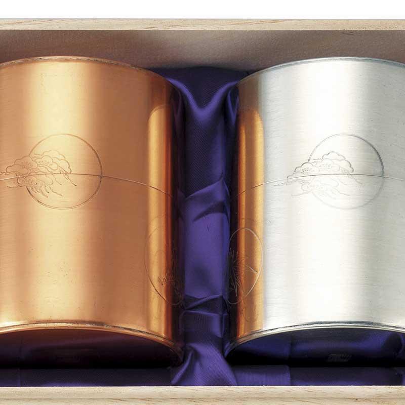 【 送料無料 】宇治茶ギフト 開化堂 銀・銅缶 木箱セットEF § 【 宇治茶/お歳暮/内祝/出産内祝い/お中元/ギフトセット/結婚内祝い/快気祝い/香典返し 】