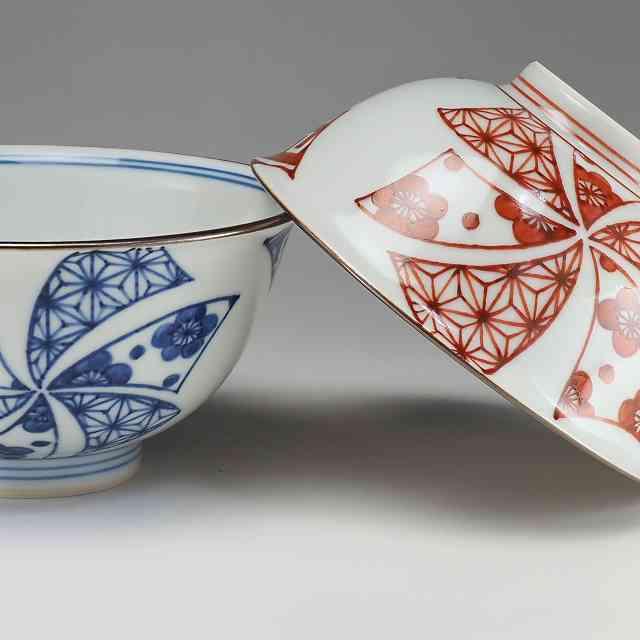 【 送料無料 】 京焼 清水焼 京 焼き 京焼き 夫婦茶碗 組飯碗 2客セット 紙箱入り ご飯茶碗 花車