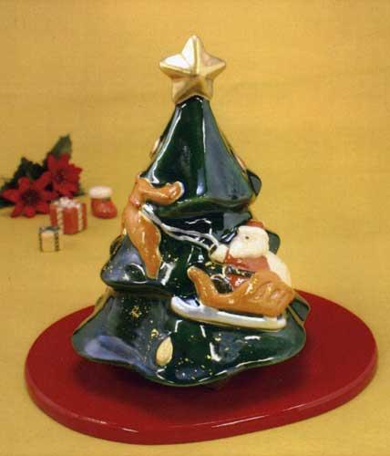 【 送料無料 】 京焼 清水焼 京 焼き 京焼き 楽置物 クリスマスツリー