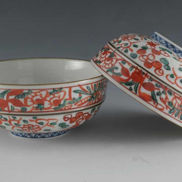 【 送料無料 】 京焼 清水焼 京 焼き 京焼き 夫婦茶碗 組飯碗 2客セット 紙箱入り ご飯茶碗 彫赤絵花鳥