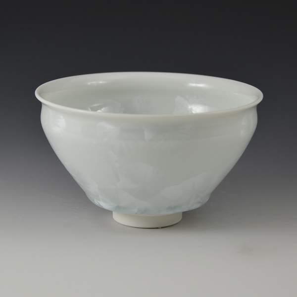 【 送料無料 】 京焼 清水焼 京 焼き 京焼き 茶道具 抹茶碗 1客 紙箱入り 花結晶(白) はなけっしょうしろ