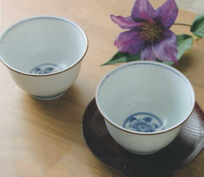 【 送料無料 】 京焼 清水焼 京 焼き 京焼き お茶呑茶碗 湯飲み茶碗 来客用にも ゆのみ 5客 木箱入り 染花紋 そめかもん