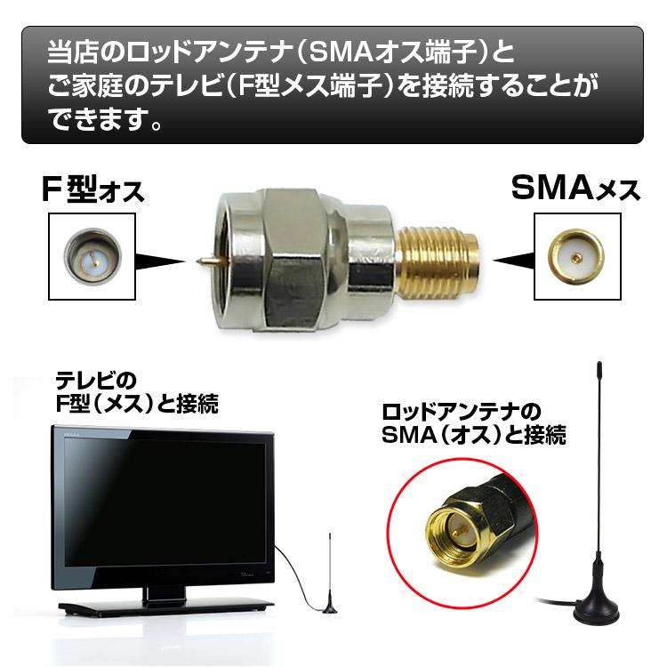 クーポン発行中! 【メール便】 SMA F型 アンテナ 端子 変換 コネクタ アダプター テレビ 接続 プラグ 2個セット