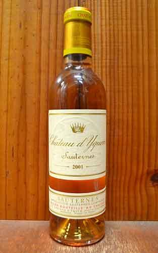 シャトー・ディケム 2001年 ハーフサイズ 375ml ソーテルヌ格付特別第1級 (フランス ボルドー ソーテルヌ 白ワイン)