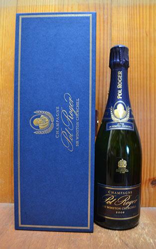 シャンパン ポル・ロジェ キュヴェ・サー・ウィンストン・チャーチル ブリュット ミレジム2006年 箱入り 正規 750ml (シャンパーニュ 白)