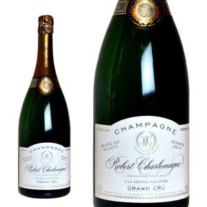 シャンパーニュ ロベール・シャルルマーニュ グラン・クリュ レゼルヴ ブラン・ド・ブラン マグナムサイズ 1500ml (シャンパン 白 箱なし)