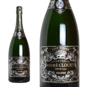 シャンパーニュ アンドレ・クルエ シルバー ブリュット・ナチューレ マグナムサイズ 1500ml (シャンパン 白 箱なし)