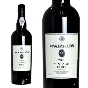 ワレズ ヴィンテージ・ポート 2003年 正規輸入代理店品 (ポルトガル・ポートワイン)