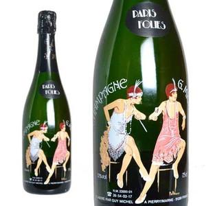シャンパン ギィ・ミッシェル ブリュット パリ・フォリ ミレジム 1989年 750ml (フランス シャンパーニュ 白 箱なし)