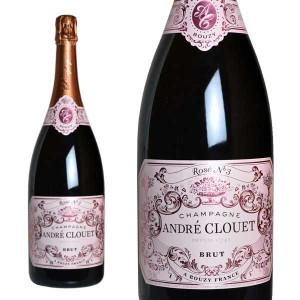 シャンパン アンドレ・クルエ シャンパーニュ ロゼ ブリュット マグナムサイズ 1500ml (フランス シャンパーニュ 箱なし)