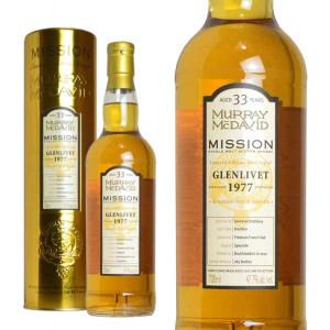 マーレイ・マクダヴィット ミッション・ゴールド グレンリベット 1977 33年熟成 47.7% 700ml 箱入り (シングルモルトスコッチウイスキー)