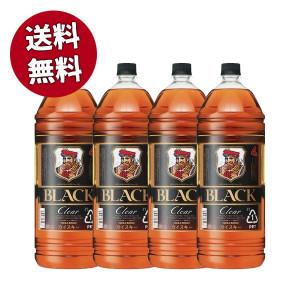 【送料無料 4本セット】ブラックニッカ クリア 4000ml×4本 ケース ブレンデッド ウイスキー ニッカウイスキー 正規品 4000ml 37% 4L 大容量