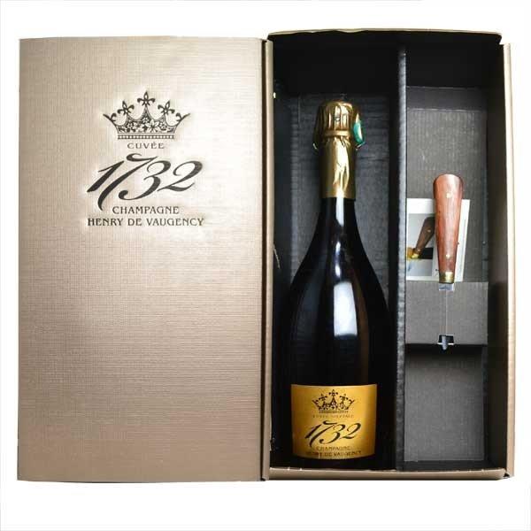 シャンパン アンリ・ド・ヴォージャンシー キュヴェ1732 グラン・クリュ ブラン・ド・ブラン 750ml ナイフ付 箱入り (フランス シャンパーニュ 白)