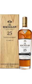 ザ・マッカラン 25年 シェリーオークカスク 700ml 43% 木箱入 正規代理店輸入品 (シングルモルトスコッチウイスキー) おひとり様1本限り