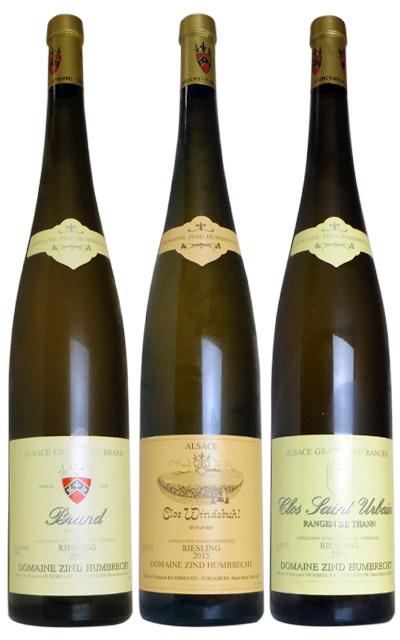 ツィント・フンブレヒト 2015年 リースリング マグナムボトル 飲み比べ3本セット 木箱入り (フランス アルザス 白ワインセット)