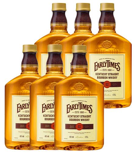 【6本セット】アーリータイムズ イエロー ラベル 1750ml×6本 (ケース6本入り) 正規品 ケンタッキー バーボン ウイスキー 40% 送料無料