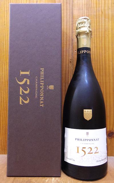 【箱入】フィリポナ シャンパーニュ キュヴェ 1522 グラン クリュ シャンパーニュ エクストラ ブリュット ミレジム 2009年 フランス シャンパン
