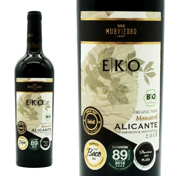 エコ アリカンテ 2018年 推奨 ボデガス ムルビエドロ 赤ワイン 供え スペイン 750ml