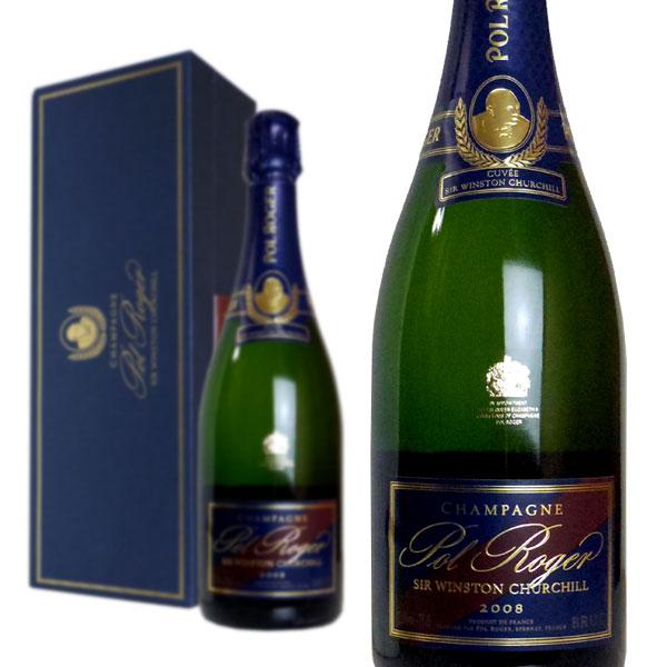シャンパン ポル・ロジェ キュヴェ・サー・ウィンストン・チャーチル ブリュット ミレジム2008年 箱入り 正規 750ml (フランス シャンパン 白)