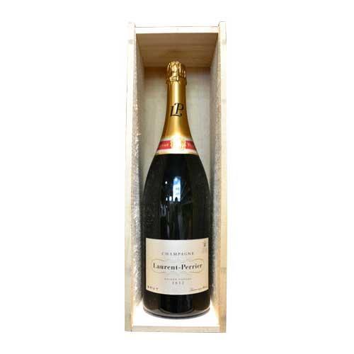 シャンパン ローラン・ペリエ ラ・キュヴェ ブリュット ジェロボアム 木箱入り 3000ml 正規 (フランス シャンパーニュ)