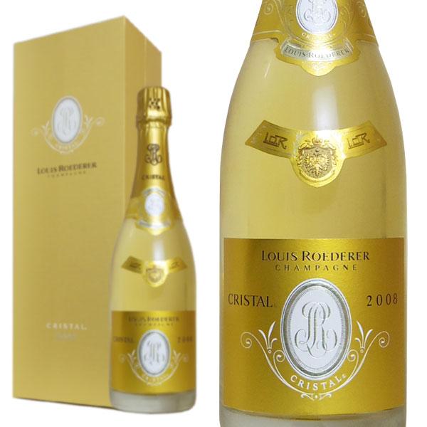 シャンパン ルイ・ロデレール クリスタル 2008年 750ml 箱入り 正規 (フランス シャンパン 白)