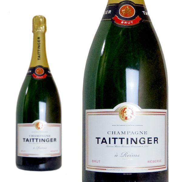 シャンパン テタンジェ ブリュット レゼルヴ マグナムサイズ 1500ml 正規 (フランス シャンパーニュ 白 箱なし)