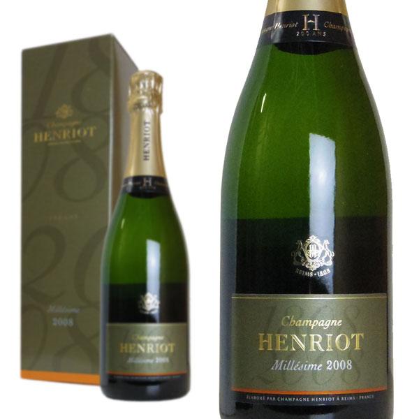 シャンパン アンリオ ブリュット ミレジム2008年 750ml 箱入り (フランス シャンパーニュ 白)