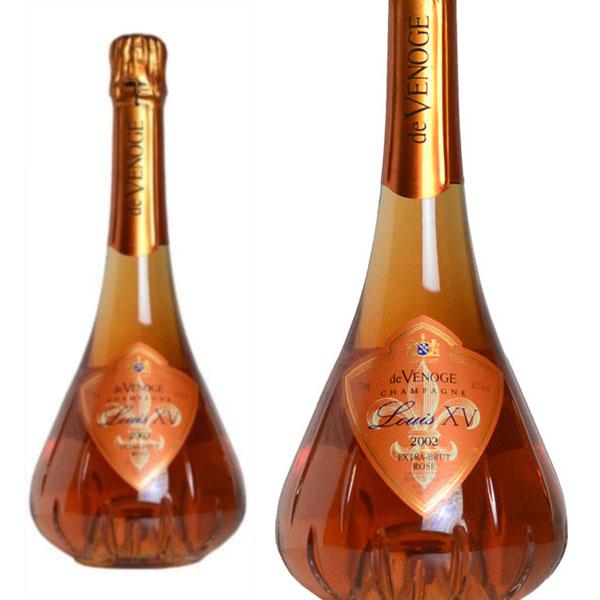 シャンパン ドゥ・ヴノージュ ロゼ ルイ15世 ミレジム2002年 750ml (フランス シャンパン ロゼ 箱なし)