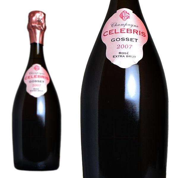シャンパン ゴッセ セレブレス ロゼ エクストラブリュット ミレジム2007年 正規 750ml (フランス シャンパーニュ 箱なし)