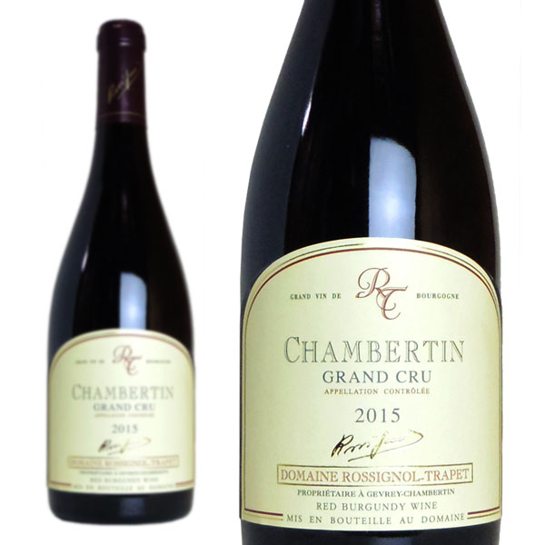 シャンベルタン グラン・クリュ 2015年 ドメーヌ・ロシニョール・トラペ 750ml (フランス ブルゴーニュ 赤ワイン)