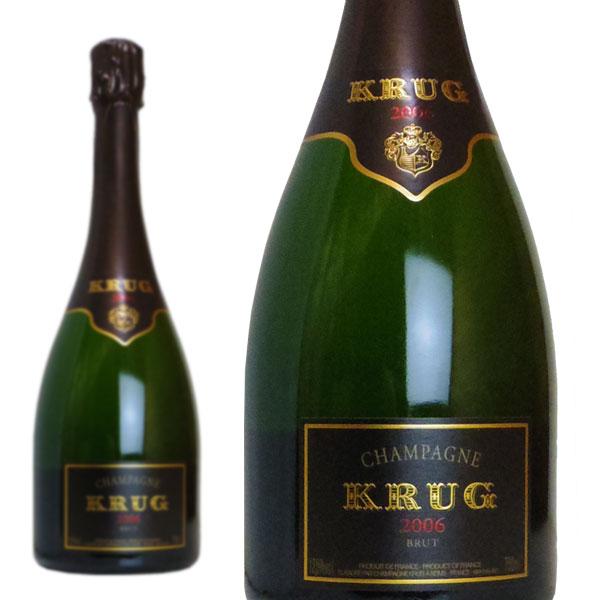 シャンパン クリュッグ ブリュット 2006年 750ml 正規 (フランス シャンパーニュ 白 箱なし)