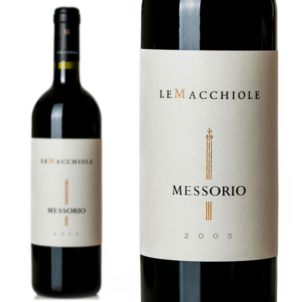 メッソリオ 2005年 新樽100%で16-18ヶ月熟成 レ マッキオーレ元詰 メルロー100% ワインアドヴォケイト誌驚異93点&ワインスペクテーター誌95点