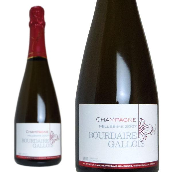 シャンパン ブールデール・ガロワ ブリュット・ミレジム 2007年 750ml (フランス シャンパーニュ 白 箱なし)