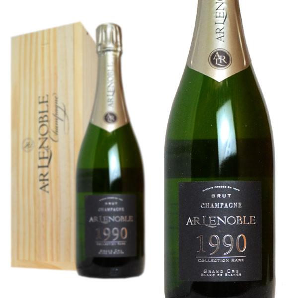 シャンパン A.R ルノーブル グラン・クリュ コレクション・レア 1990年 750ml 木箱入り (フランス シャンパーニュ 白)