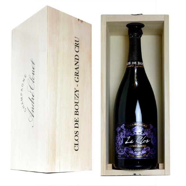 シャンパン アンドレ・クルエ グラン・クリュ レ・クロ ミレジム2008年 マグナムサイズ 1500ml 木箱入り (フランス シャンパン 白)