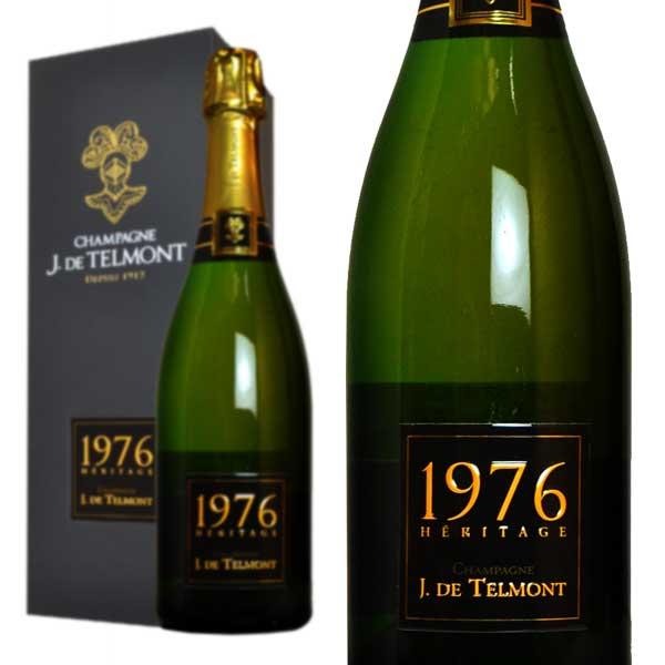 シャンパン ジ・ド・テルモン セレクシオン・エリタージュ ブリュット ミレジム1976年 750ml 木箱入り (フランス シャンパーニュ 白)