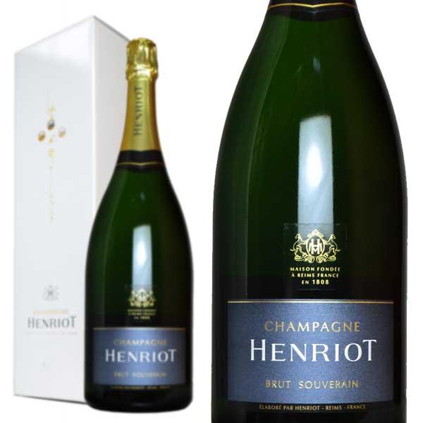 シャンパン アンリオ ブリュット・スーヴェラン マグナムサイズ 箱入り 正規 1500ml (フランス シャンパーニュ 白)