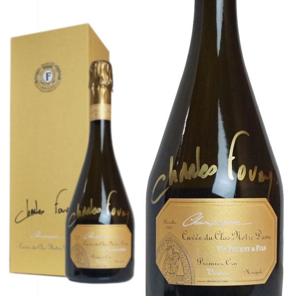 シャンパン ヴーヴ・フルニ・エ・フィス キュヴェ・ド・クロ・ノートルダム 2007年 エクストラ・ブリュット 箱入り 750ml サイン入りボトル