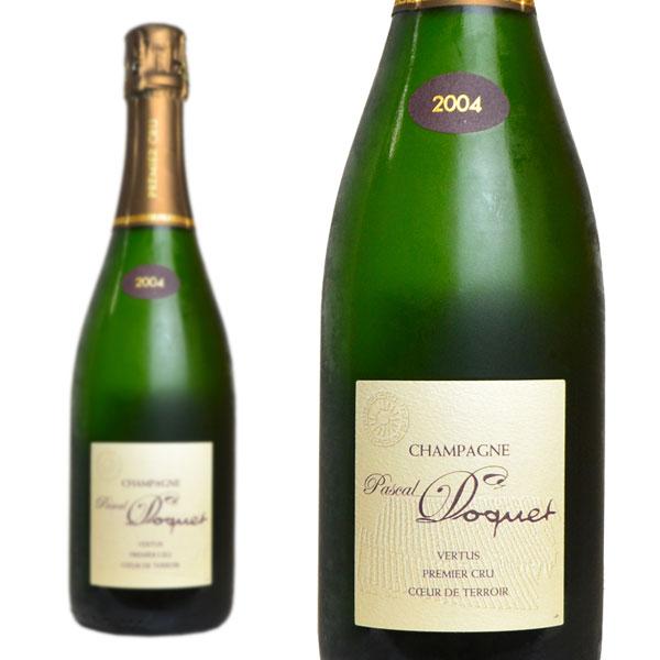 シャンパン パスカル・ドケ ヴェルテュ プルミエ・クリュ クール・ド・テロワール ミレジム 2004年 750ml (フランス シャンパーニュ 白 箱なし)