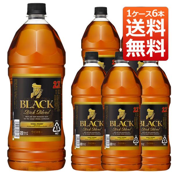 ブラックニッカ リッチブレンド 40% 2.7L×6 ペットボトル ニッカウヰスキー 正規 (日本 ブレンデッドウィスキー) 送料無料