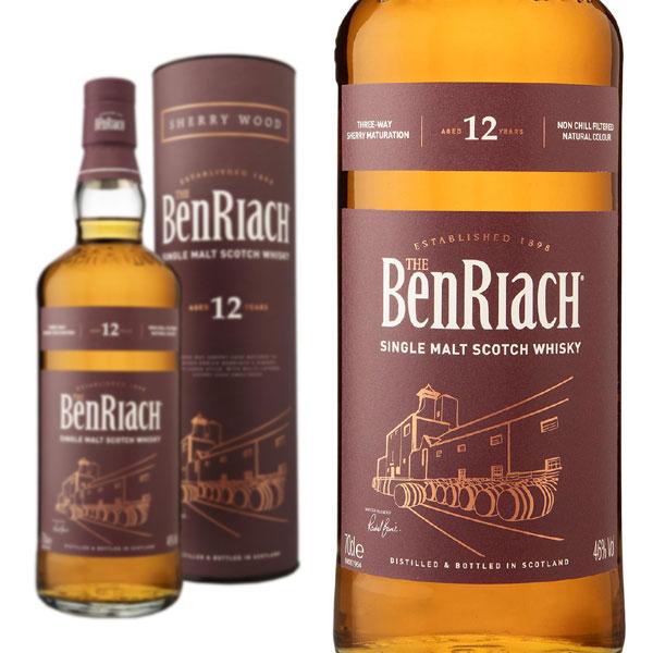 ベンリアック 12年 シェリーウッド 46% 700ml 箱入り 正規 (シングルモルト スコッチ ウイスキー)