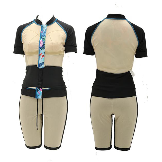 乳がんを経験された方のための水着 アクアマンマ 袖付きセパレート1210110