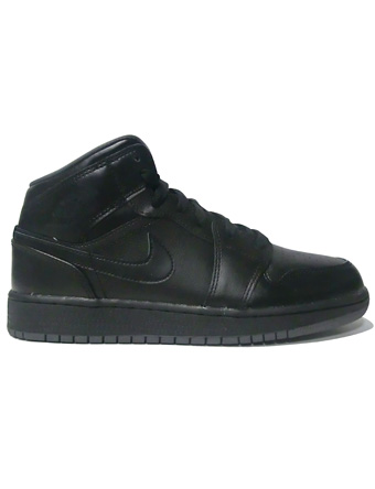 0cfa538f4 Basketball shoes junior kids bash sneakers Jordan Nike Jordan Air Jordan 1  Mid BG GS Blk ...