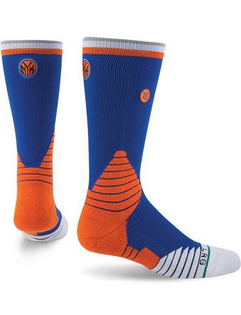ロー 超特価SALE開催 クルー ミッド等100種類以上 大放出セール バスケットソックス ウェア クルーソックス STANCE Logo Knicks ストリート Socks NBA Crew