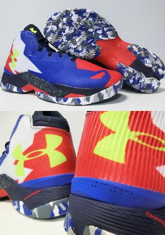 "篮球鞋 bash 下盔甲 UnderArmour 咖喱 2.5""早晨的天空""T.Royal/Red/Wht"