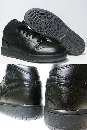 93a732d78e9098 Basketball shoes junior kids bash sneakers Jordan Nike Jordan Air Jordan 1  Mid BG GS Blk street kids